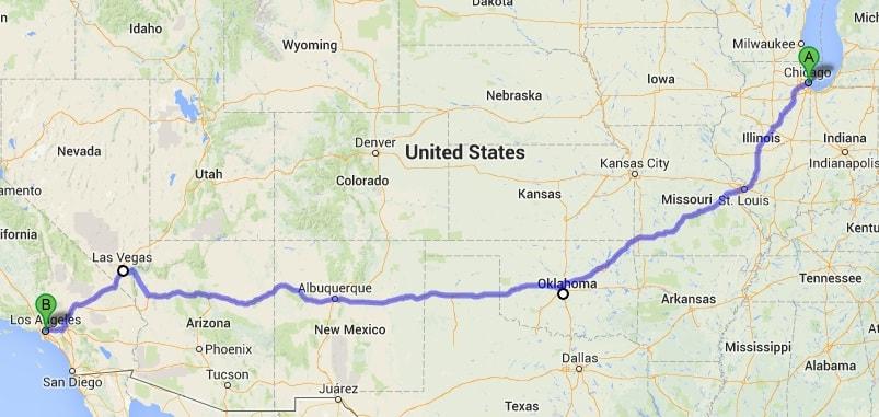 Ruta 66 Mapa