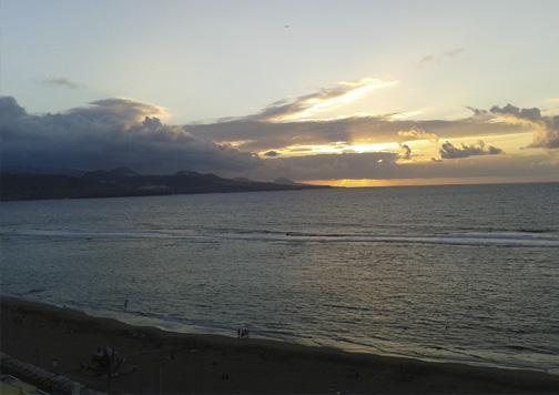 Atardecer en Gran Canaria.