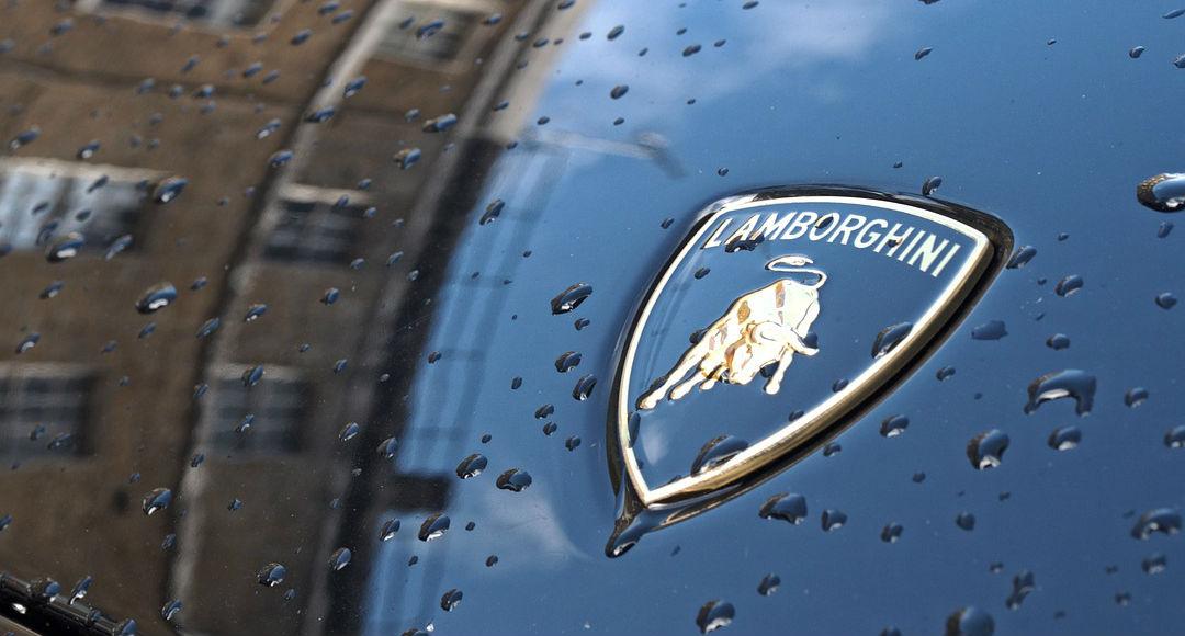 Logo de Lamborghini - coche negro