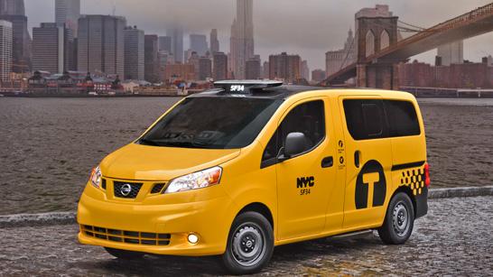 Taxi de Nueva York modelo NV200.