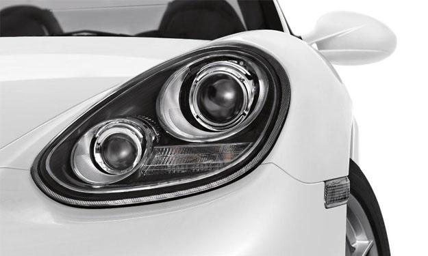 Faros de un Porsche