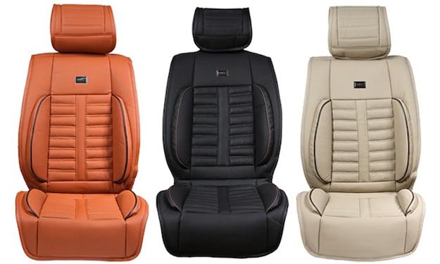 Asientos de coche creados con piel sintética