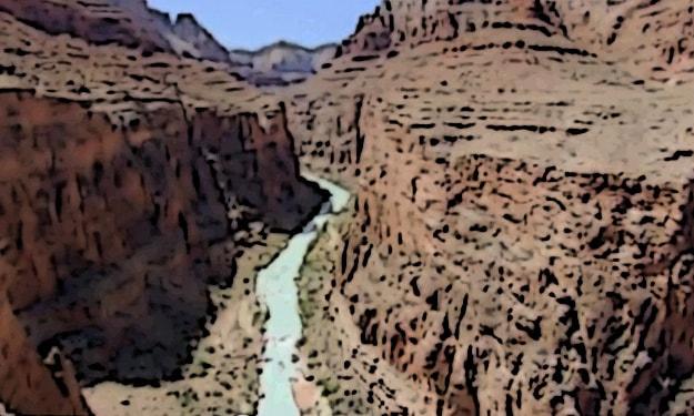 Uno de los principales atractivos de la Ruta 66 es el impresionante Cañón del Colorado.