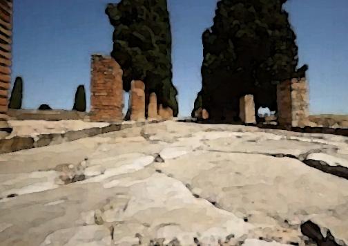 Las calles pavimentadas con aceras son un legado de la Antigua Roma.