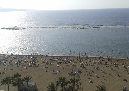 Playa de Las Canteras.