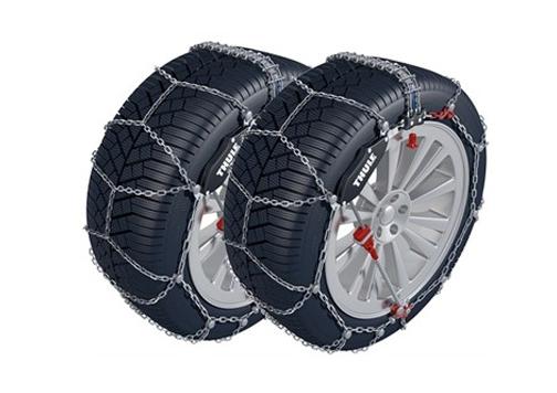 Neumáticos con cadenas de nieve
