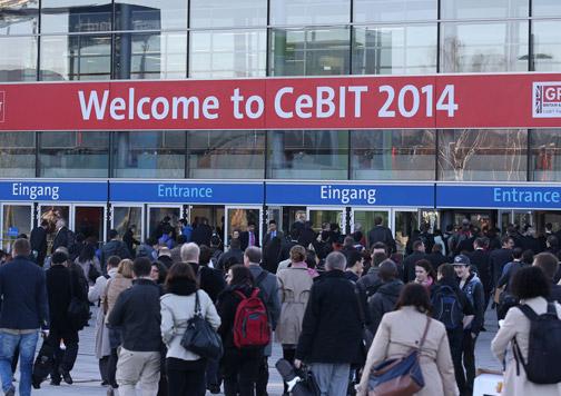entrada CeBIT 2014.
