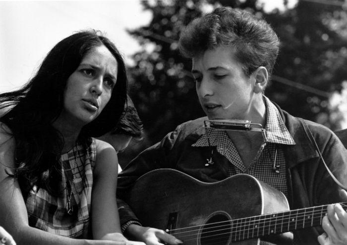 Bob Dylan y Joan Baez