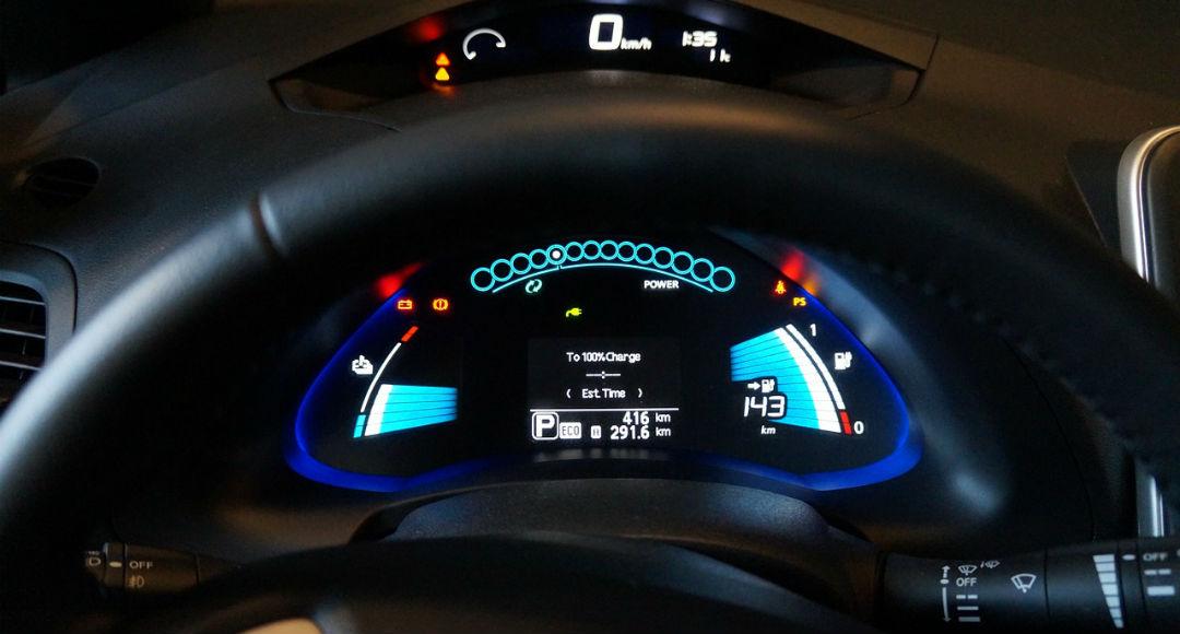 salpicadero coche eléctrico