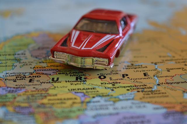 coche mapa Europa